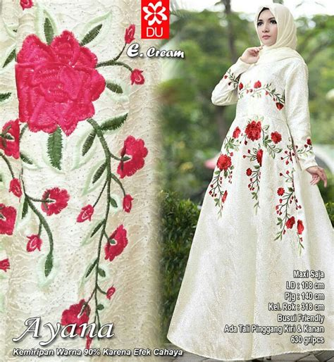 Keisha Dress Jaguard Hijabers Mewah dress pesta bahan jaguard dress baju lebaran