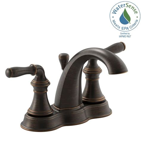 Isave Water Saving Faucets by Kohler Devonshire 4 In Centerset 2 Handle Mid Arc Water