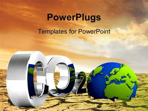 Powerpoint Template Co2 Pollution And Globe In 3ds Style Air Pollution Ppt Templates Free