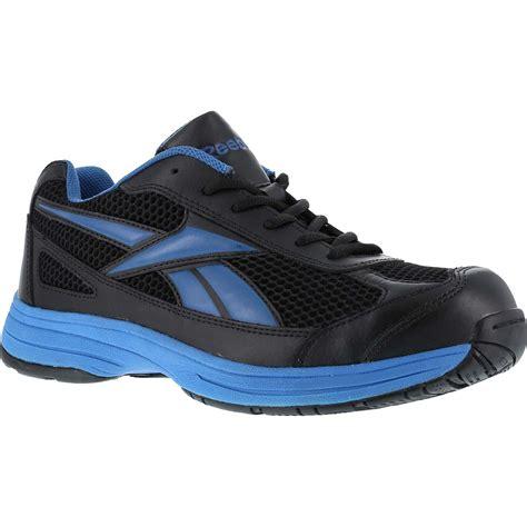 steel toed athletic shoes reebok steel toe locut athletic black light blue rb1620