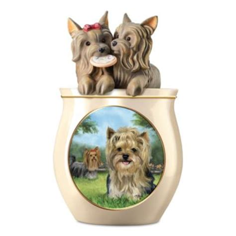yorkie items picken yorkie ceramic cookie jar with sculpted lid at beautiful items