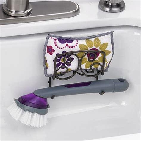 scrubber holder kitchen 3431 sponge dish brush holder drain away