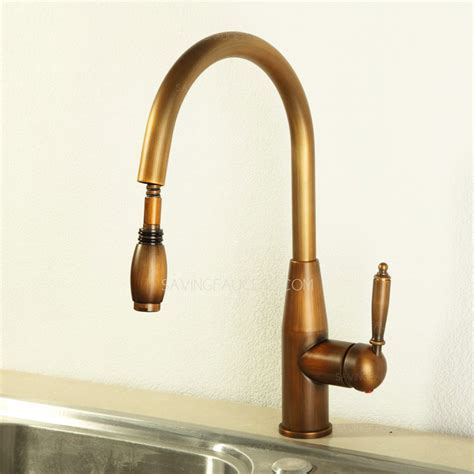 vintage pullout antique brass kitchen sink faucets 203 99