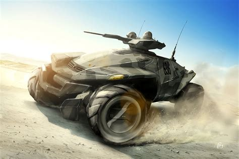 concept armored vehicle armored desert all wheel drive concept vehicle with