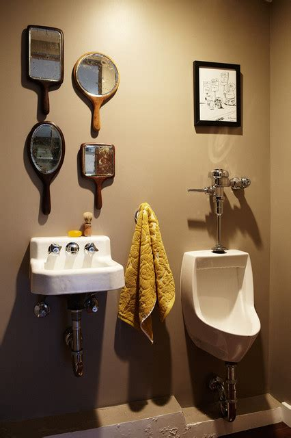 Man Cave Bathroom Ideas by Man Cave Home Office Eclectic Bathroom Los Angeles