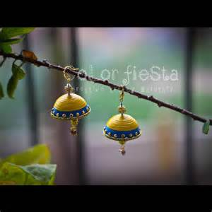 How To Make Quilling Paper Jhumkas - quilled jhumkas myfriskymoments