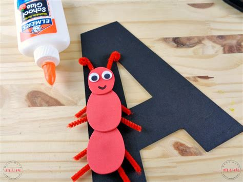 ant craft for letter of the week letter craft letter quot a quot is for ant