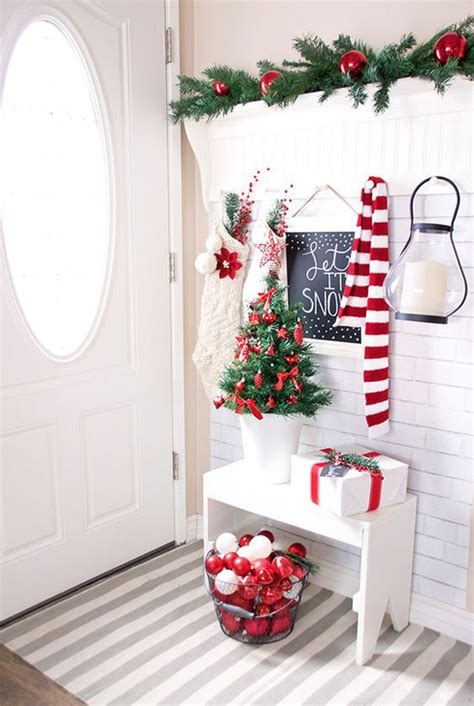 christmas decorating ideas 40 red and white christmas decorating ideas all about