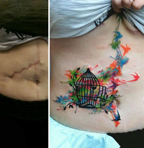 tattoos to cover scars 10 amazing tattoos that turn scars into works of