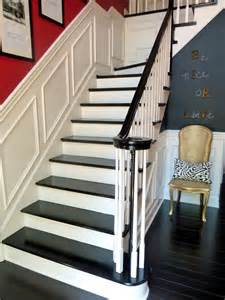 Our Black Painted Staircase Bright Here She Is The Staircase I Always Wanted