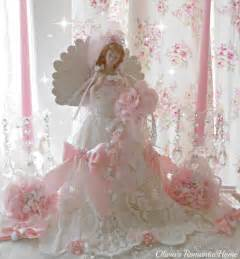 pink christmas angel christmas tree topper bridal lace angel