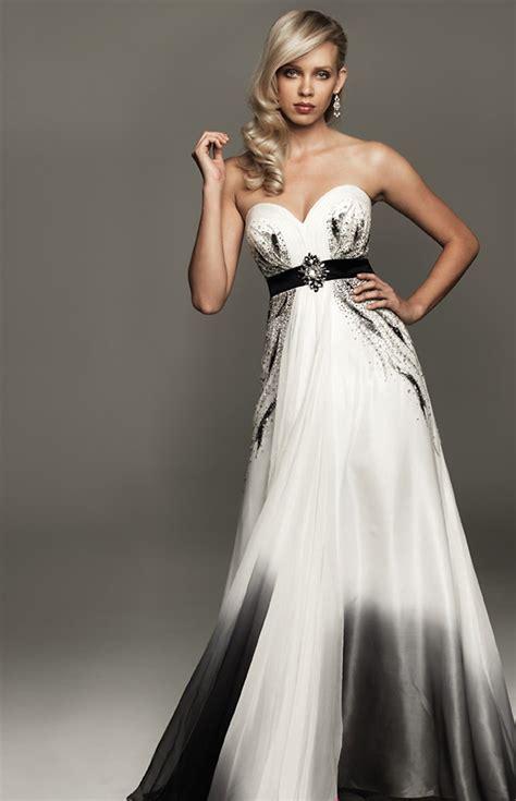 black white wedding dresses 30 ideas of beautiful black and white wedding dresses