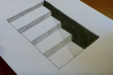How To Draw Stairs Side View