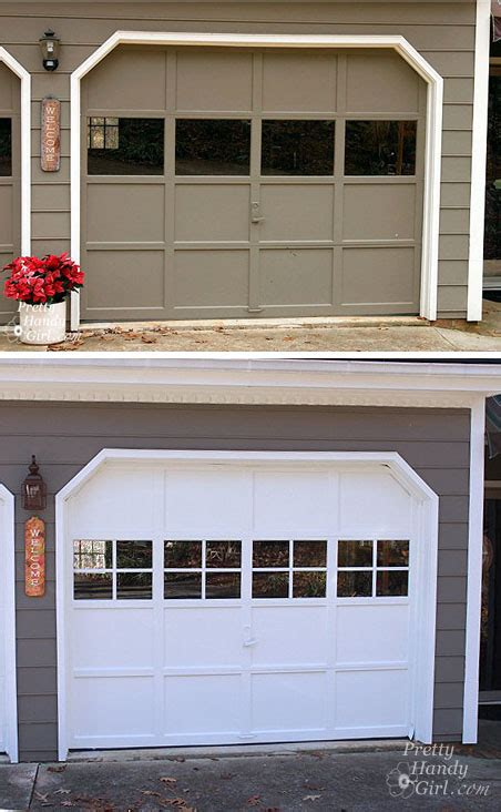 Garage Door With Windows by Adding Grilles To Garage Door Windows Pretty Handy