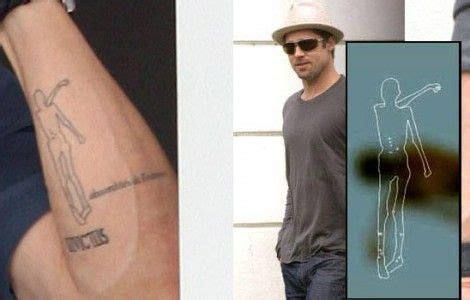 brad pitt otzi tattoo brad pitt oceans 13