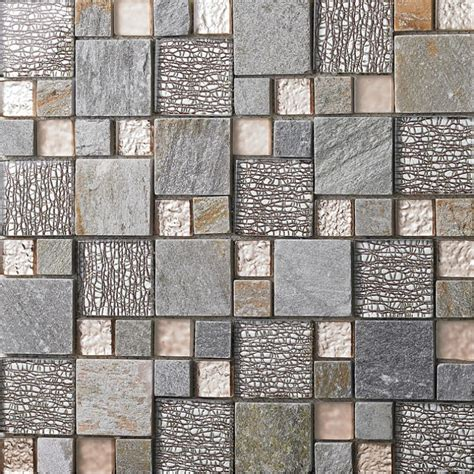 grey glass mosaic tile natural marble tile wall backsplashes tiles bathroom tile new art design