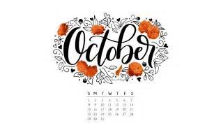 Calendar October 2017 Wallpaper October 2017 Printable Calendar Tech Pretties
