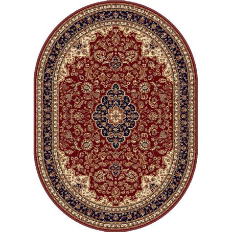 Area Rugs 6 X 9 Tayse Rugs Sensation 6 Ft 7 In X 9 Ft 6 In Oval Traditional Area Rug 4780 7x10 Oval