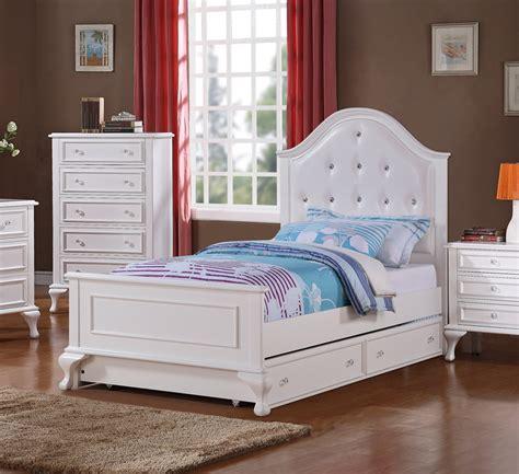 jesse trundle bedroom set white finish jstb decor south