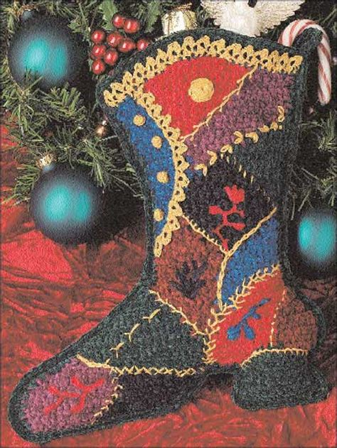 free pattern for victorian christmas stocking crochet seasonal victorian christmas stocking