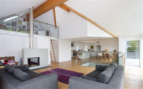Living Room With Fireplace by Soluzioni Soppalco Mansarda It