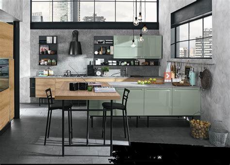 cucine moderne con isola prezzi cucina moderna con isola e piano lavoro olmo industrial in