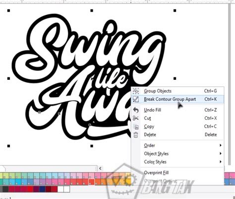 membuat outline font corel cara membuat outline font cara membuat typography text di