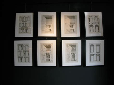 set  early  century french architectural prints drawings