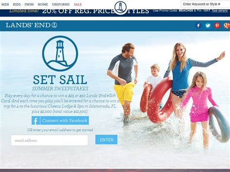 Cash Sweepstakes Ending Today - land s end set sail sweepstakes