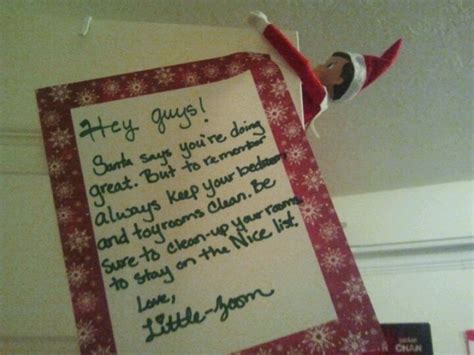 elf on the shelf clean your room printable elf on a shelf reminder to keep your room clean elf on