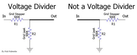 resistor in voltage divider how s work