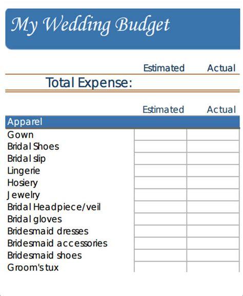 Wedding Budget Sheets by Wedding Budget Worksheet 7 Exles In Word Pdf