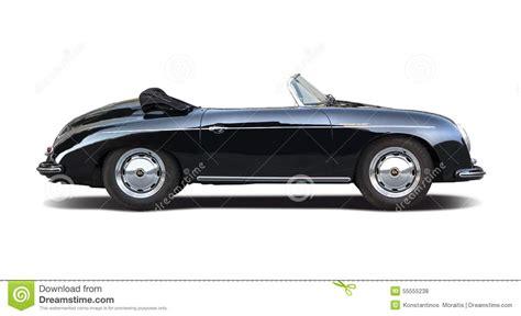 old porsche black classic porsche speedster 356 isolated on white editorial