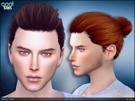 man male bun sims 3 anto blackout hair sims 4 updates sims 4 finds