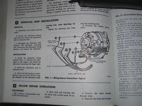 mustang alternator wiring diagram free wiring
