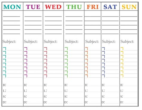 printable student weekly planner template 7 best images of school planner printable free printable