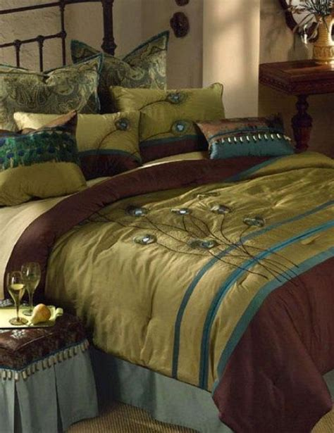 jennifer lopez peacock bedding peacock comforter set queen for sale 41179143384 rasha comforter set create a