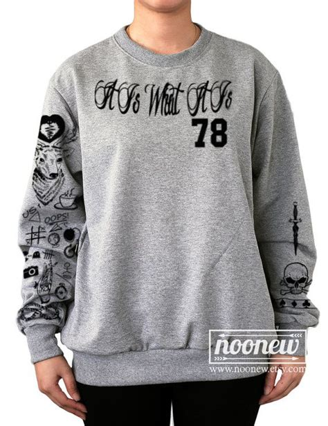 louis tomlinson tattoo sweatshirt sweater crew neck shirt