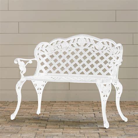solid cast aluminum patio furniture new outdoor patio furniture solid cast aluminum garden bench in antique white ebay