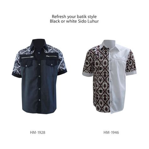 Kemeja Batik Koko Black Prada pin by uswatun khasanah on kemeja batik pria
