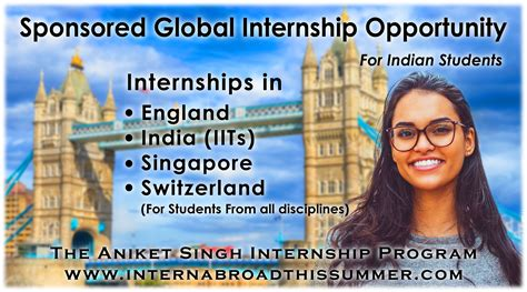 intern abroad free fully paid foreign internship summer internship how to