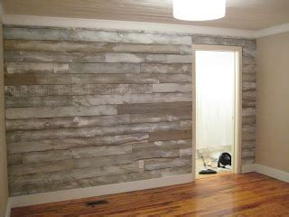 Distressed wood wall made with fencing panels. New wood