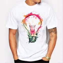 new color painted bulb design s t shirt cool fashion