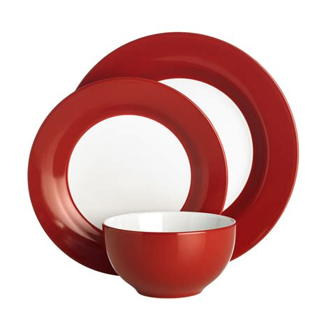 dinner set wilko colourplay dinner set red 12 piece deal at wilko