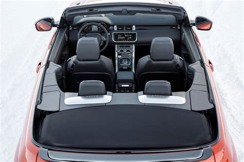land rover convertible interior land rover range rover evoque review and rating motor trend