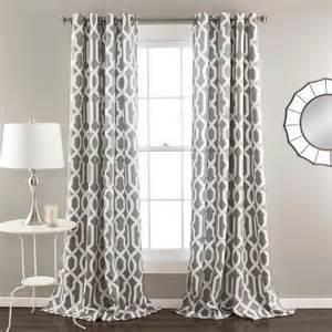 Grey Trellis Curtains Modern Trellis Room Darkening Curtain 2 Count Panels 26 30 Saving With Shellie