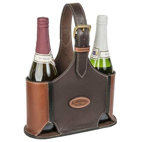 Handmade Wine - handmade leather wine bottle carrier coblentz leather in
