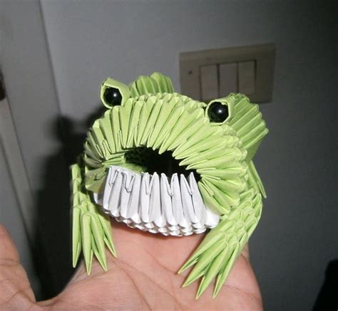 3d Origami Frog - frog origami 3d by sfa87 on deviantart