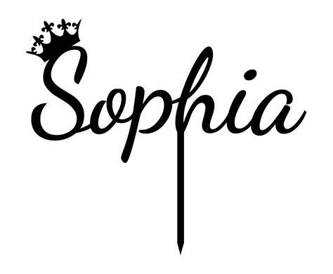 """""""Sophia"""" Custom Name Cake Topper With Crown Personalized Birthday Cake Topper   eBay"""
