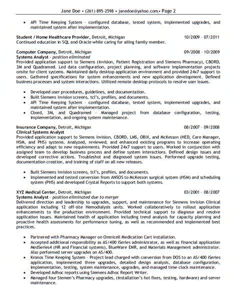 application performance tuning resume